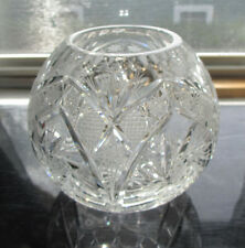 Vintage Large Round Heavy Lead Crystal Centerpiece Bowl - Fishbowl Shaped