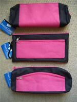 Girls Kids Pink & Black Sparkly Glitter Pencil Pen Case School College or Home!