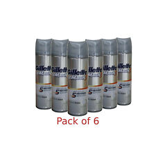 6x Gillette Mach3 Irritation Defense Soothing Shave Foam with Aloe 245g (8.4 Oz)