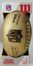 """Wilson Nfl """"The Duke"""" Roger Goodell Gold Metallic Edition Football Official Pro"""