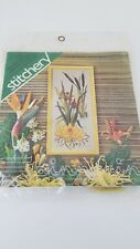 "Vintage Spinnerin Stitchery Kit Hawaiin Waterlilly  # 803 8"" x 16"" Crewel Rare"