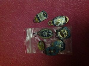 Assorted club badges over 100