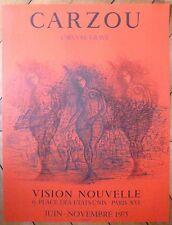 Carzou Jean Affiche en lithographie 1975 Mourlot L'oeuvre gravé Paris Arménie