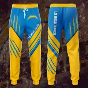 Los Angeles Chargers Casual Joggers Pants Sweatpants Loose Active Sport Trousers