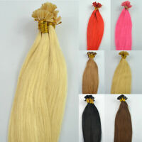 "20"" 50g Pre Bonded Nail U Tip Keratin Fusion Straight Remy Human Hair Extension"