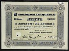 GERMANY 910/G&K -Steatit-Magnesia Aktiengesellschaf, 100 RM 1934 Berlin
