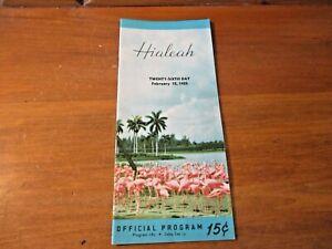 1955 HIALEAH HORSE TRACK RACE COURSE OFFICIAL PROGRAM BROCHURE Florida