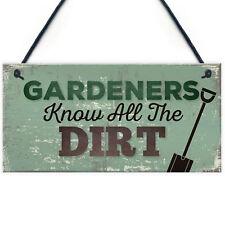 Gardeners Know The Dirt Plaque SummerHouse Garden Sign Friend Gifts For Women