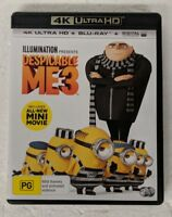 DESPICABLE ME 3 - 4K ULTRA HD DVD + Blu-ray All Region oz seller minions