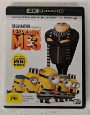 DESPICABLE ME 3 - 4K ULTRA HD DVD + Blu-ray All Region oz seller