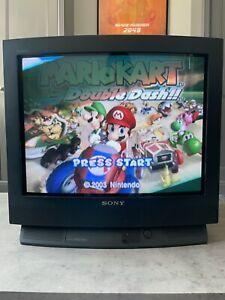 "Sony Trinitron KV-25F3U 25"" Vintage Retro Gaming Collectors CRT Colour TV"