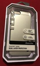 Authentic Incipio DualPro Shine Case for iPhone 6 Plus/ 6s Plus - Silver / Black