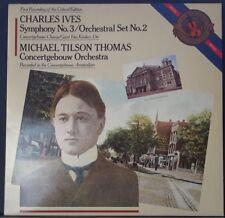 CBS MASTERWORKS IM 37823 IVES SYMPHONY 3 TILSON THOMAS CONCERTGEBOUW HOLLAND '85