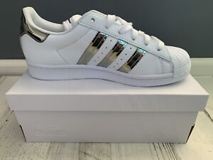 ADIDAS Originals Superstar W7.5 FW3915 Women Casual Shoes White/Silver Metallic