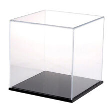 1Pc Clear Acrylic Display Box Dustproof Action Figure Display Case Cube 8cm