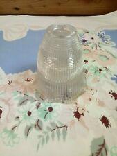 """VTG Holophane Glass Globe Light  Shade Grid /Beaded  2 1/4"""" Fitter 4""""H"""