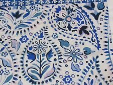 Opalhouse Bandana Blue Fabric Shower Curtain blue pink new #278