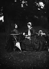 Queen Victoria And Empress Augusta 1872 OLD PHOTO