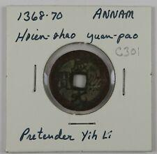 C301 Annam, AE Cash Coin of the Pretender Yih Li, 1368-70 D