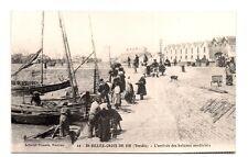 st-gilles-croix-de-vie  l'arrivée des bateaux sardiniers (reproduction)