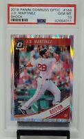 2018 Optic SHOCK Red Sox Star J.D. MARTINEZ Baseball Card PSA 10 GEM MINT Pop 2