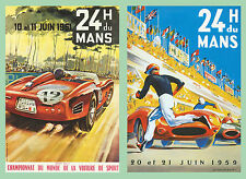 Le Mans 1959 and 1961 Motor Racing Large Size A3 Poster Advert Sign Leaflet