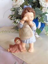 Goebel Nina & Marco @ Nina mit Kissen und Puppe  ♥ Noch nicht müde ♥ RARITÄT ♥
