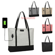 NEW 2 way USB Charging Shoulder Handle Canvas Bag Handbag Shopping  Computer bag