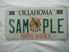 1996 Oklahoma Sample License Plate Tag