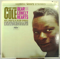"""12"""" 33 RPM STEREO LP - CAPITOL ST-1838 - NAT KING COLE - DEAR LONELY HEARTS"""