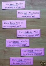 ANTONYM I HAVE-WHO HAS GAME  -Teacher Resource LITERACY