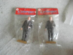 Lot of 2 Vintage MARX Hubert Humphrey Figurines NIP