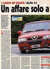 Z80 Ritaglio Clipping 1994 Check-up usato Alfa Romeo 33