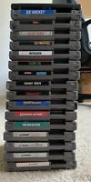 NES Game Lot Of 17 Games - Cleaned, Tested & Working