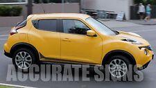 Nissan Juke Bas Graphics kit stickers stripes Voiture Autocollants TOUTE COULEUR