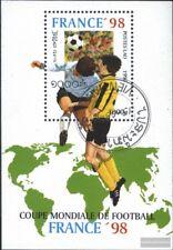 Laos Bloque 157 (edición completa) usado 1996 Fútbol-WM ´98, Francia