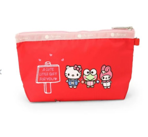 Hello Kitty x LeSportsac Sloan Cosmetic Pouch Sanrio Red from Japan