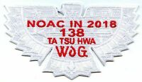 Boy Scout OA Lodge 138 Ta Tsu Hwa 2018 NOAC Fundraiser Flap