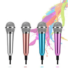 US Wired Mini Microphone Stereo Karaoke Sound Record For Cell Phone Gift 3.5mm