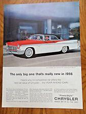 1956 Chrysler New Yorker 2 Door Hardtop Ad  The Year Ahead Car