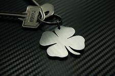 CLOVER Four 4 Leaf Lucky Good Luck New Job Home Keyring Keychain Key Fob Gift