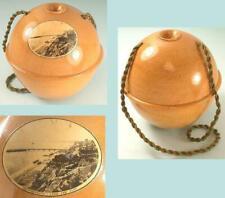 Antique Mauchline Ware Yarn Ball * Scottish * Circa 1890s