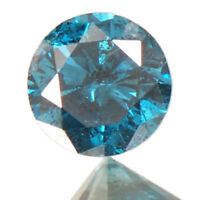 Superb Round Shape 100% Natural Blue Loose Diamond 0.15Ct With Free Certificate