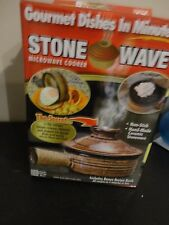 AS SEEN ON TV NON STICK HAND MADE CERAMIC STONEWARE STONE WAVE MICROWAVE COOKER
