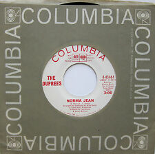 THE DUPREES: Norma Jean / She Waits For Him - M- Columbia Soul Promo 45