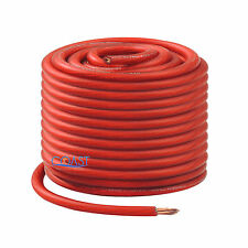 OFC Copper 665 Strand Count 8 Gauge AWG Red Power Ground Wire Cable - 100ft