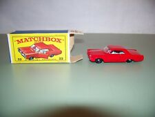 VINTAGE MATCHBOX SERIES #22 PONTIAC COUPE WITH BOX