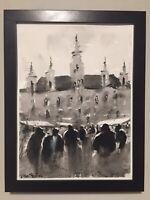 "Watercolor Painting ORIGINAL Vienna, Austria ""TOWN HALL"" 9x12 by John Harrison"