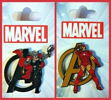 MARVEL Avengers Thor & Iron Man lot of 2 Disney Park Pins - NEW