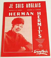 Partition vintage sheet music HERMAN HERMIT'S : Je Suis Anglais * 60's